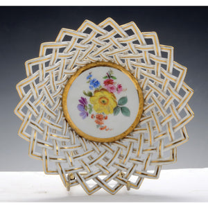 Meissen porcelain reticulated bowl