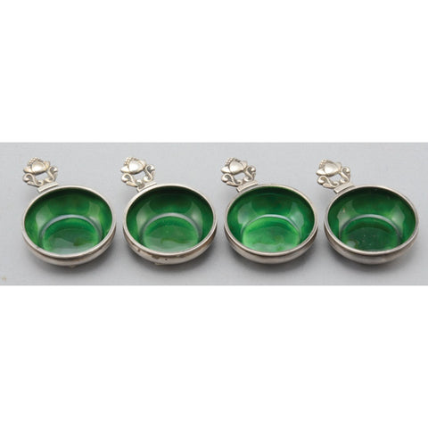 silver and enamel salts set