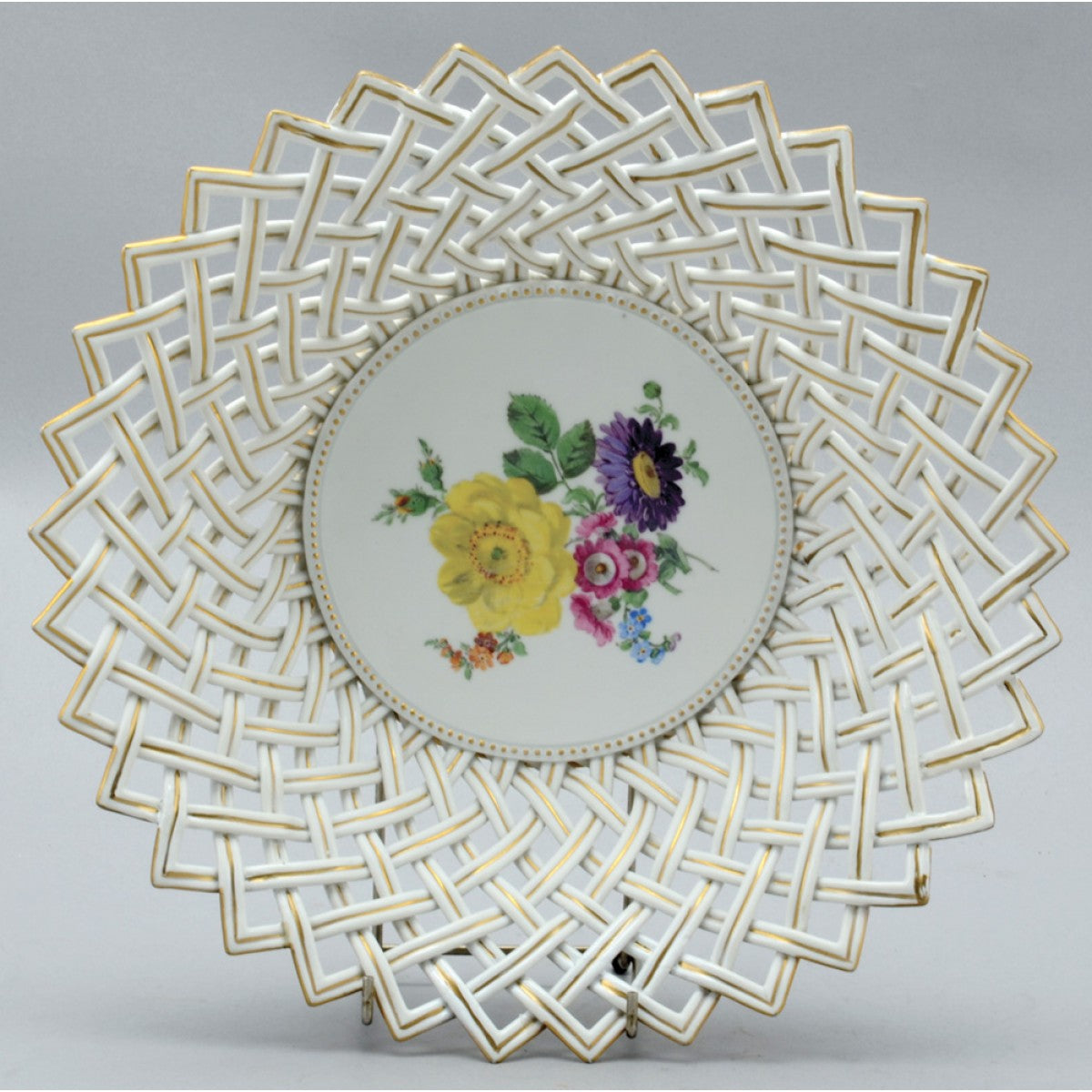A large meissen porcelain bowl