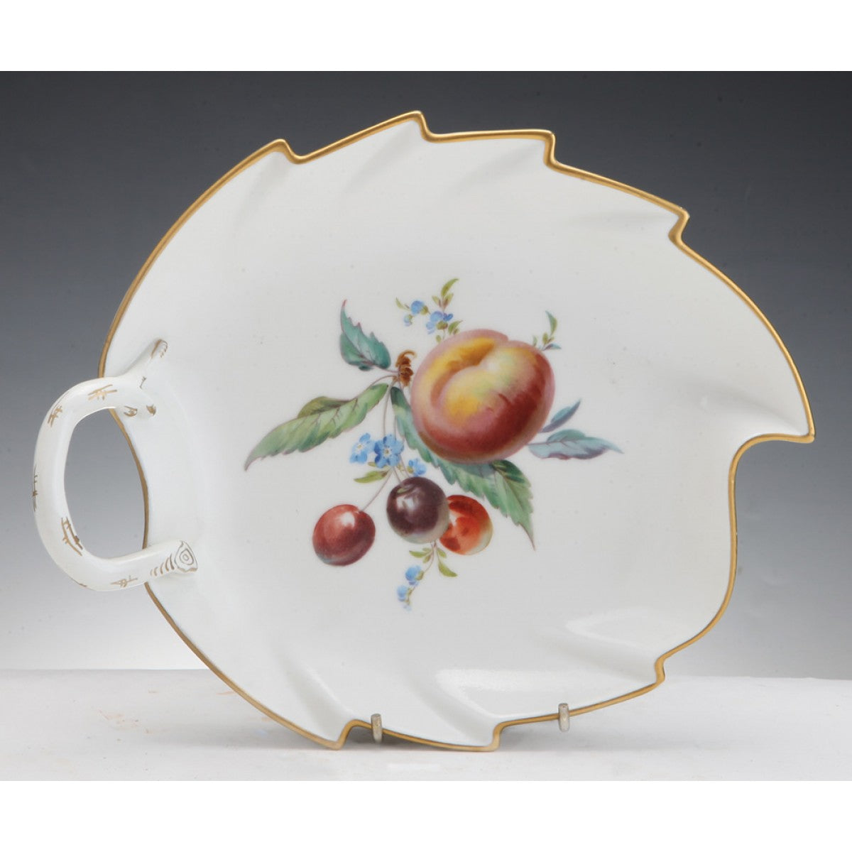 Meissen Porcelain Leaf Shaped Bowl