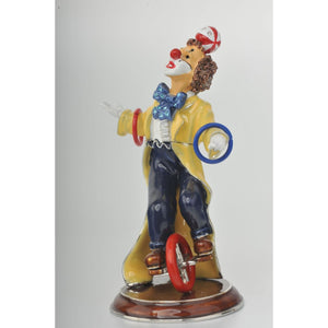 Yellow Circus Clown Juggling on Unicycle by Keren Kopal