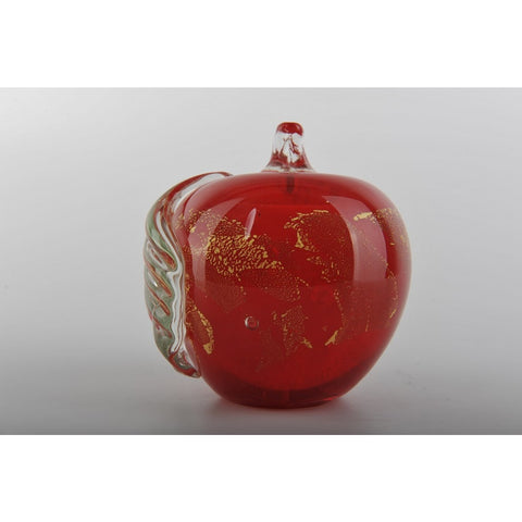 Glass Decoration of Red Apple
