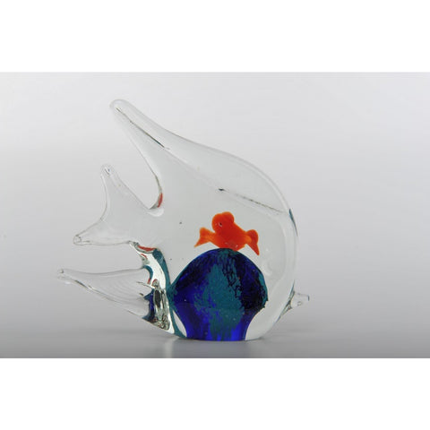 Glass Decoration of Fish with 2 Fish in Belly