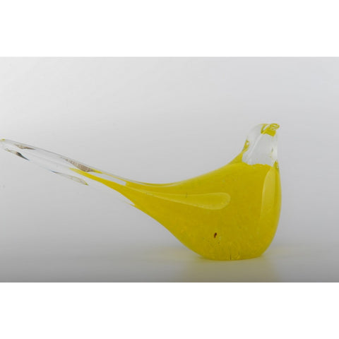 Glass Decoration of Yellow Bird