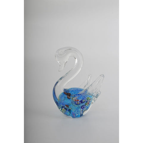 Glass Decoration of Blue Swan