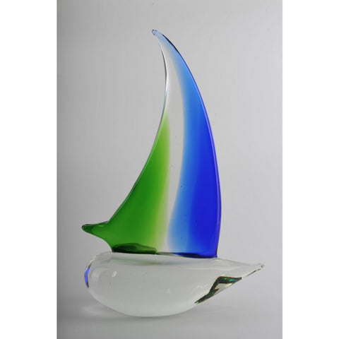 Glass Decoration of Sailing Boat
