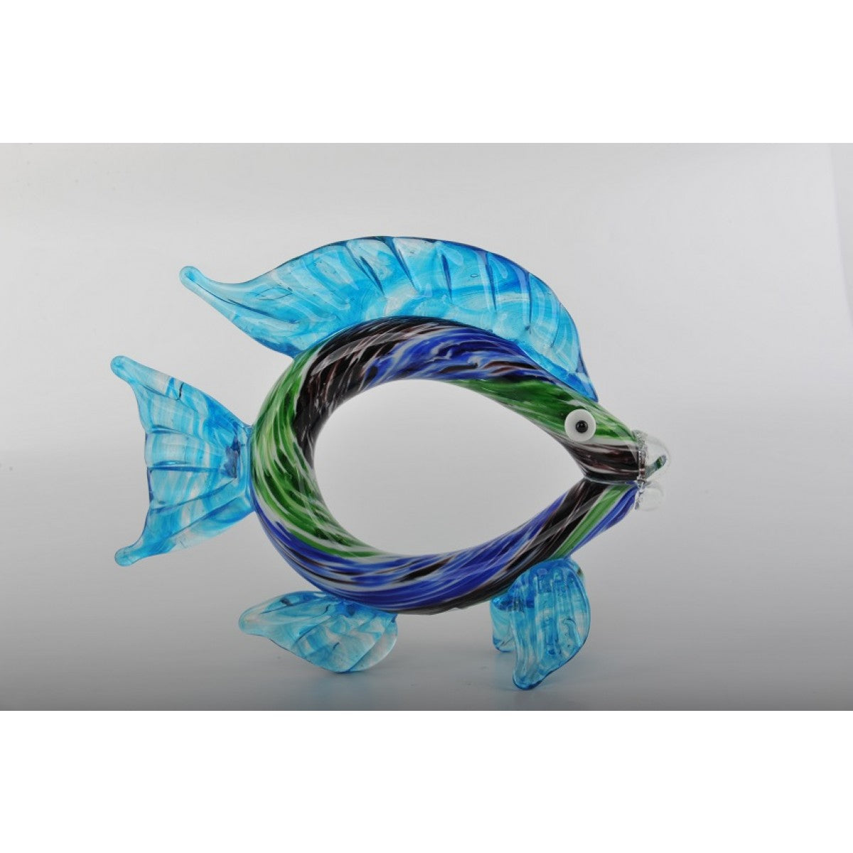 Glass Decoration of Blue & Green Fish