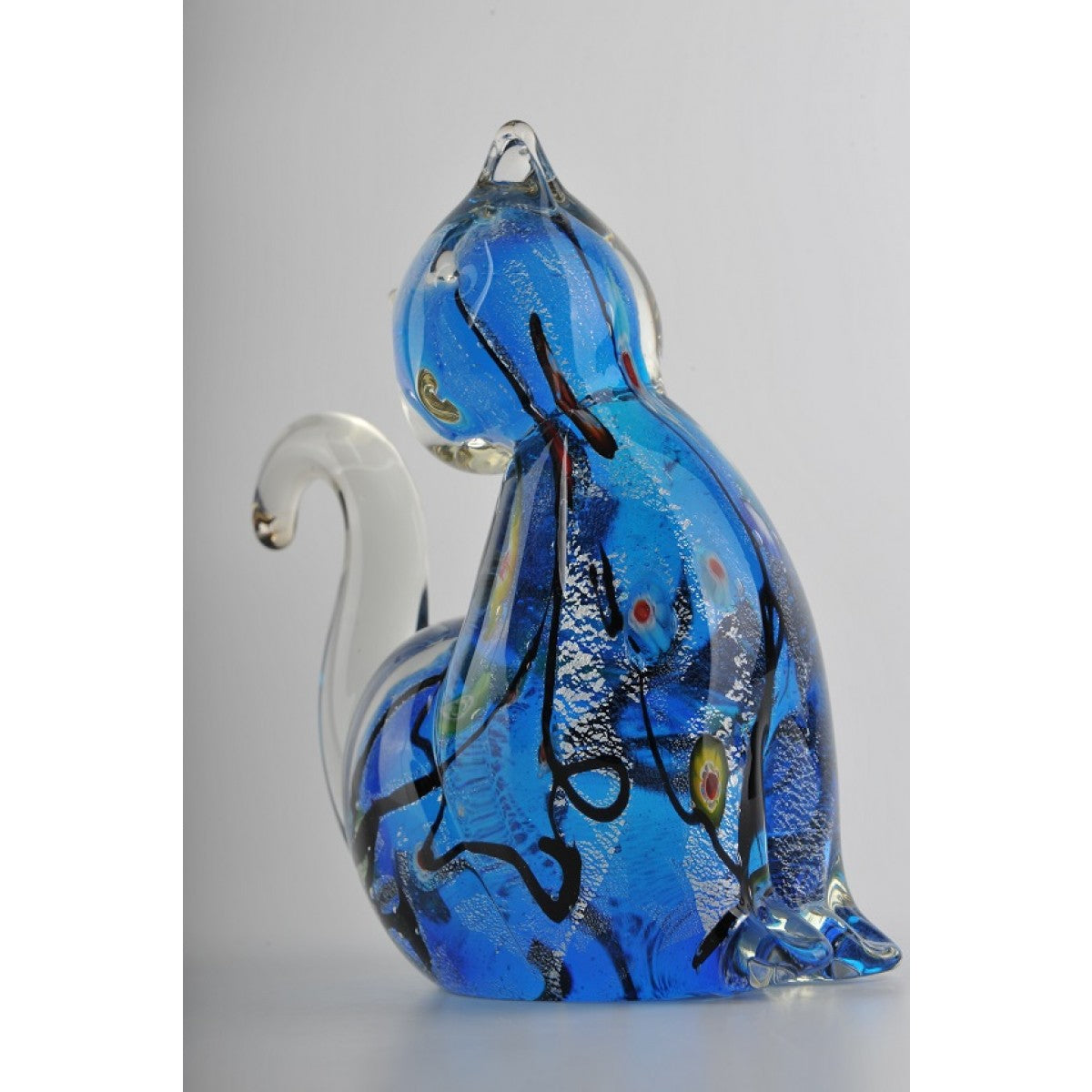Glass Decoration of Blue Cat