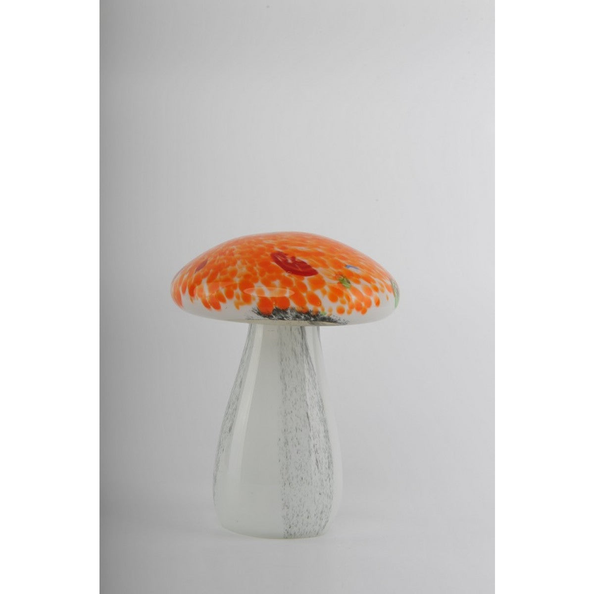 Glass Decoration of Orange Mushroom