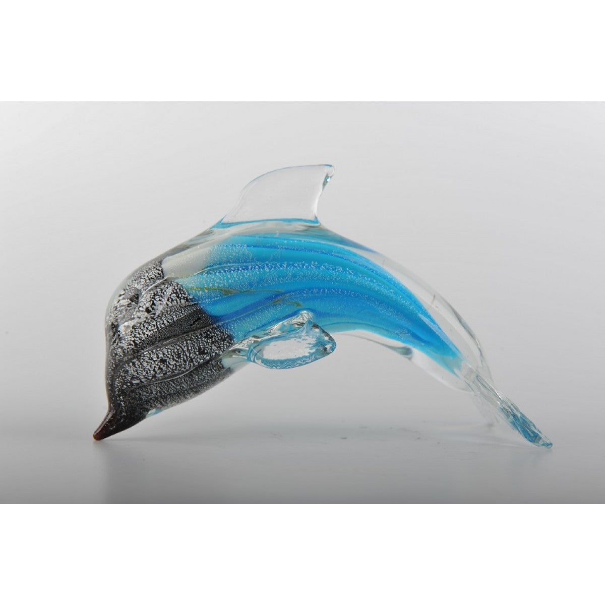 Glass Decoration of Half Black Half Blue Dolphin