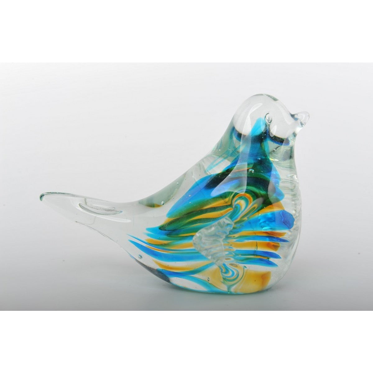 Glass Decoration of Colorful Bird