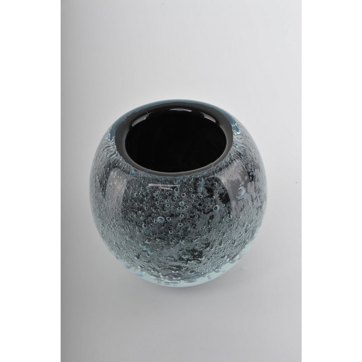Glass Decoration of Grey Fish Bowl Vase