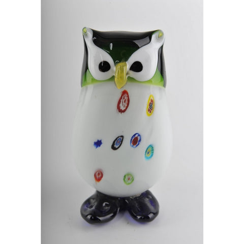 Glass Decoration of Colorful Owl
