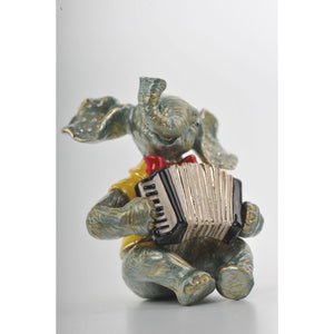 Elephant Playing the Accordion by Keren Kopal