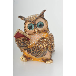 Sophisticated Owl with a Book by Keren Kopal