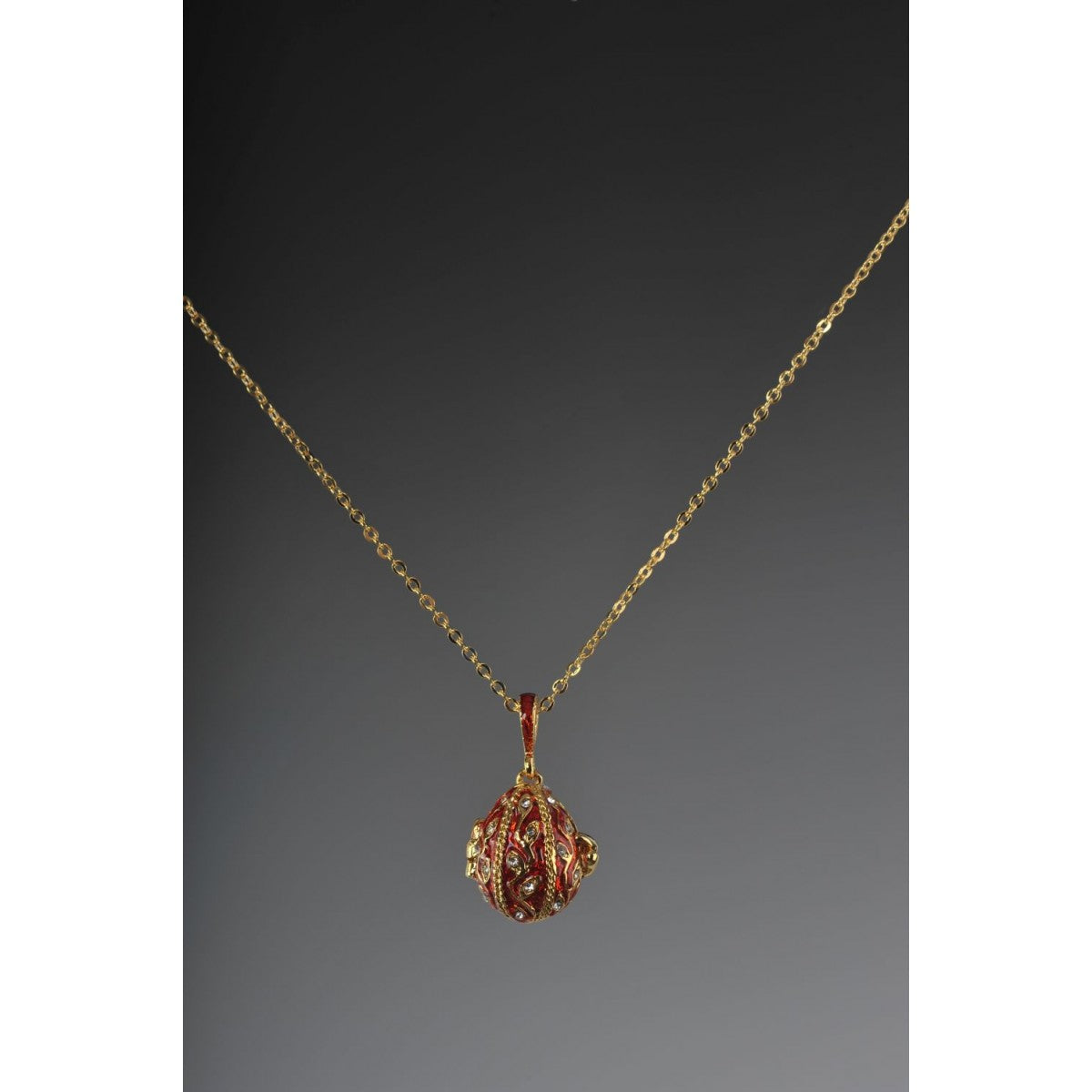 Red Faberge Easter Egg Necklace