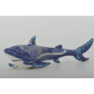 Blue Shark Faberge Styled Trinket Box by Keren Kopal