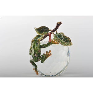 Crystal Apple with a Green Frog by Keren Kopal