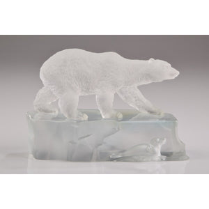 Crystal Polar Bear & Sea Lion on Iceberg