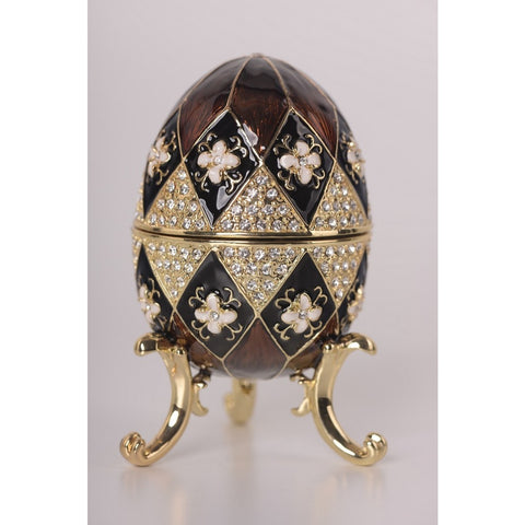 Brown Faberge Egg Music Box By Keren Kopal