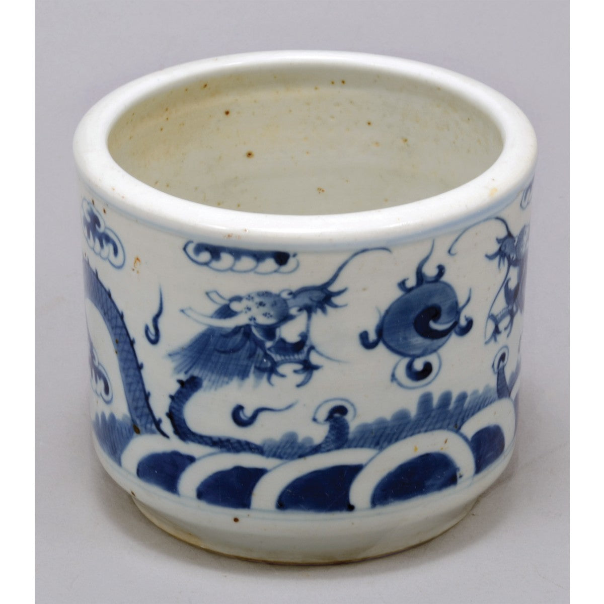 Antique Chinese Porcelain Jardiniere - Blue and White