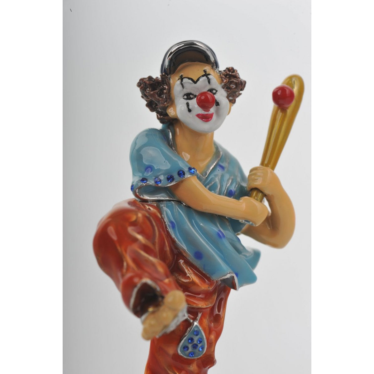 Circus Clown Playing Baseball by Keren Kopal