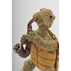 Turtle Playing the Saxophone