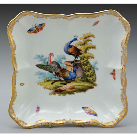 A Meissen Porcelain Square Shaped Bowl