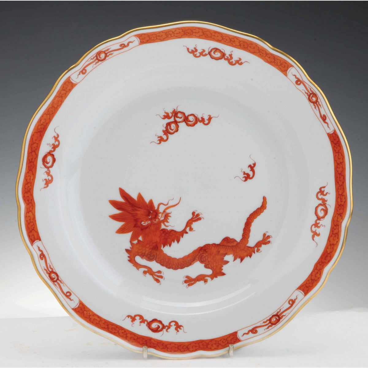 Red Dragon Meissen Porcelain Plate