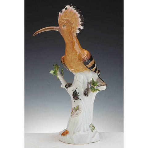 Meissen Porcelain Hoopoe Bird