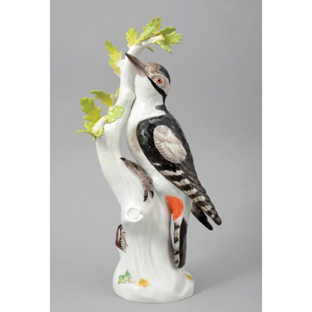 A Meissen Porcelain Great Spotted Woodpecker