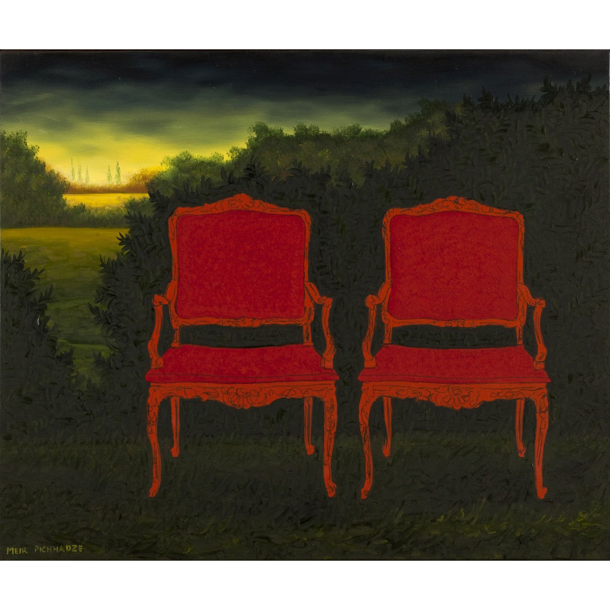 Two Red Chairs by Meir Pichhadze