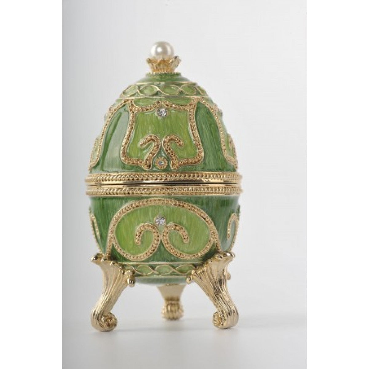 Green Faberge Egg with Animals Inside by Keren Kopal