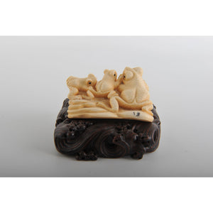 Mammoth Ivory- Three Frogs