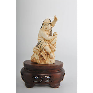 Mammoth Ivory- Warrior on Dragon