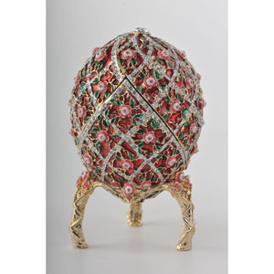 Flowers Faberge Styled Egg Trinket Box by Keren Kopal