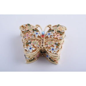 Butterfly with Flowers Style Trinket Box