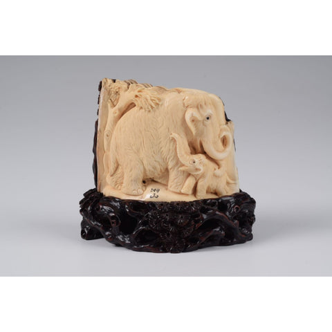 Mammoth Ivory- Mother and Son Mammoths