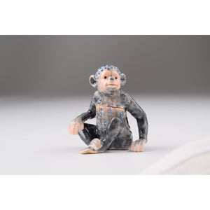 Monkey Faberge Styled Trinket Box by Keren Kopal