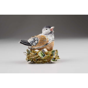 Bird Faberge Styled Trinket Box by Keren Kopal