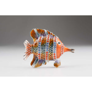 Fish Faberge Styled Trinket Box by Keren Kopal