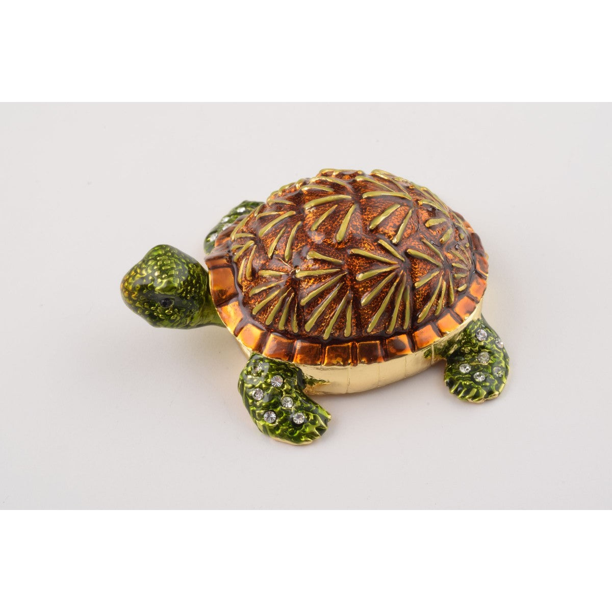 Turtle Faberge Styled Trinket Box by Keren Kopal