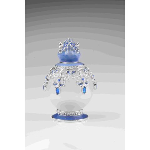Blue & White Faberge Egg