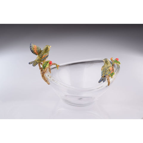 Two Birds on Glass Plate