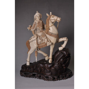 Mammoth Ivory- Horse with Warrior Rider