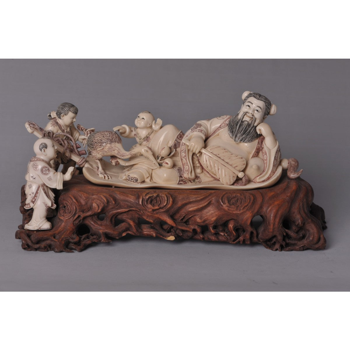 Mammoth Ivory- Teacher with Students and Goose