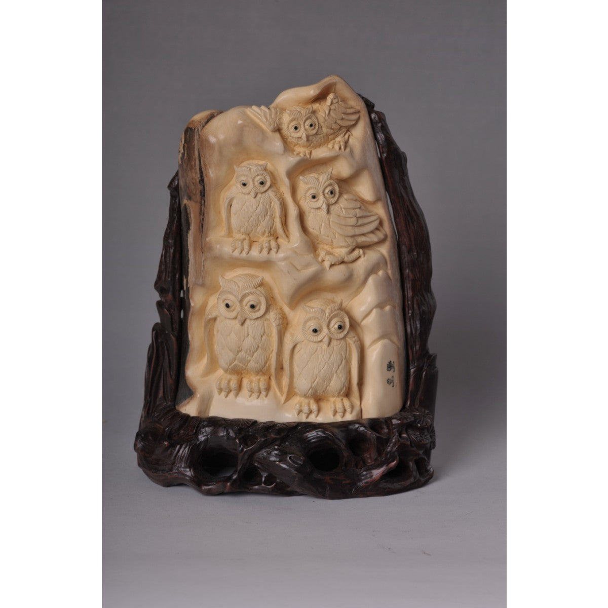 Mammoth Ivory- Group of Owls