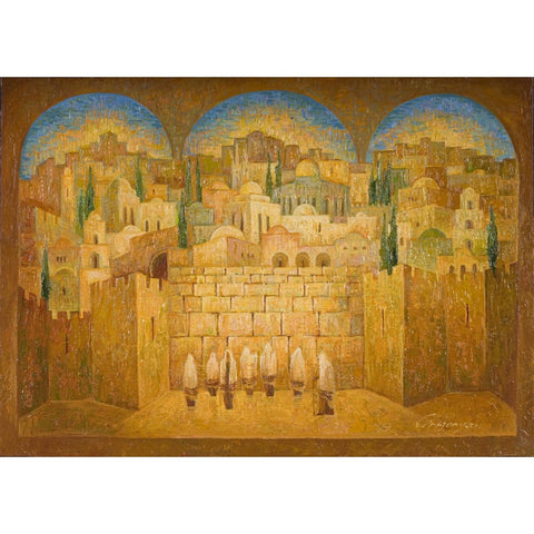 Old City View Western Wall by Marina Grigoryan
