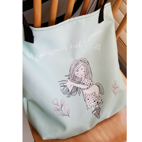 """Veganism is not a dream"" Tote Bag"