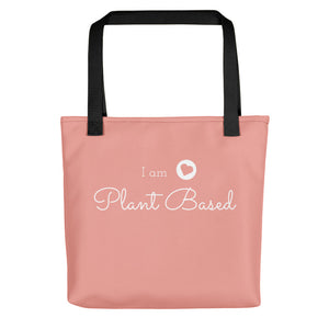 """Plant Based"" Pink Tote Bag"
